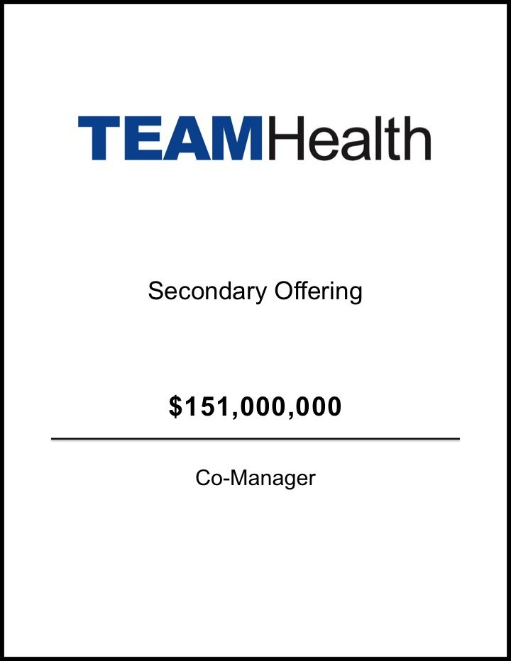 TeamHealth – Secondary Offering*