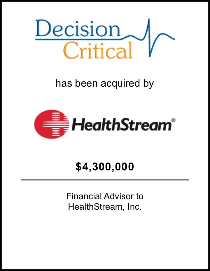 HealthStream Acquires Decision Critical