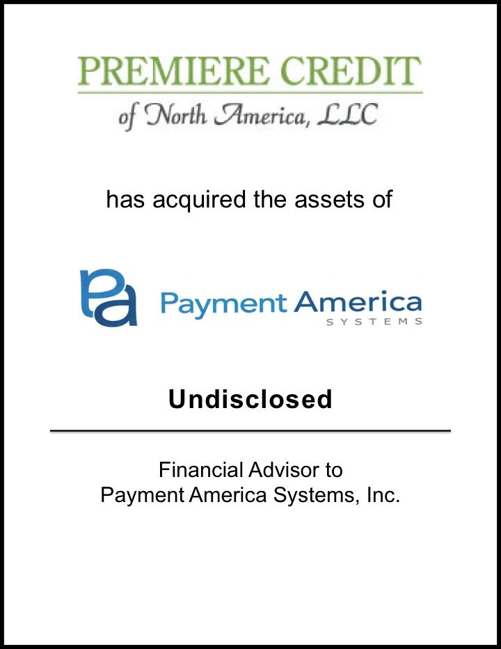 Premiere Credit Acquires Assets of Payment America Systems