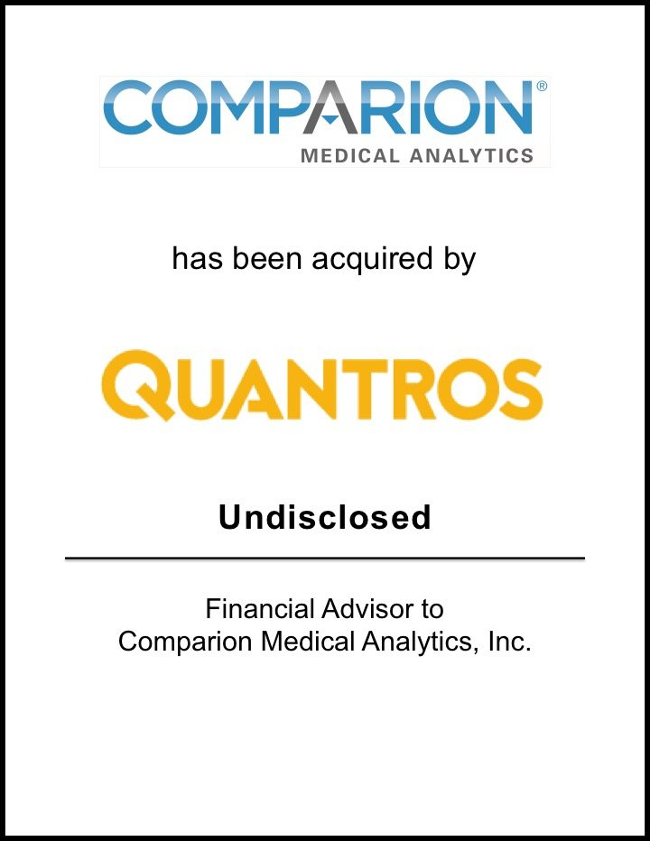 Quantros Acquires Comparion Medical Analytics