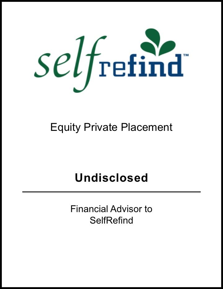 SelfRefind – Equity Private Placement*