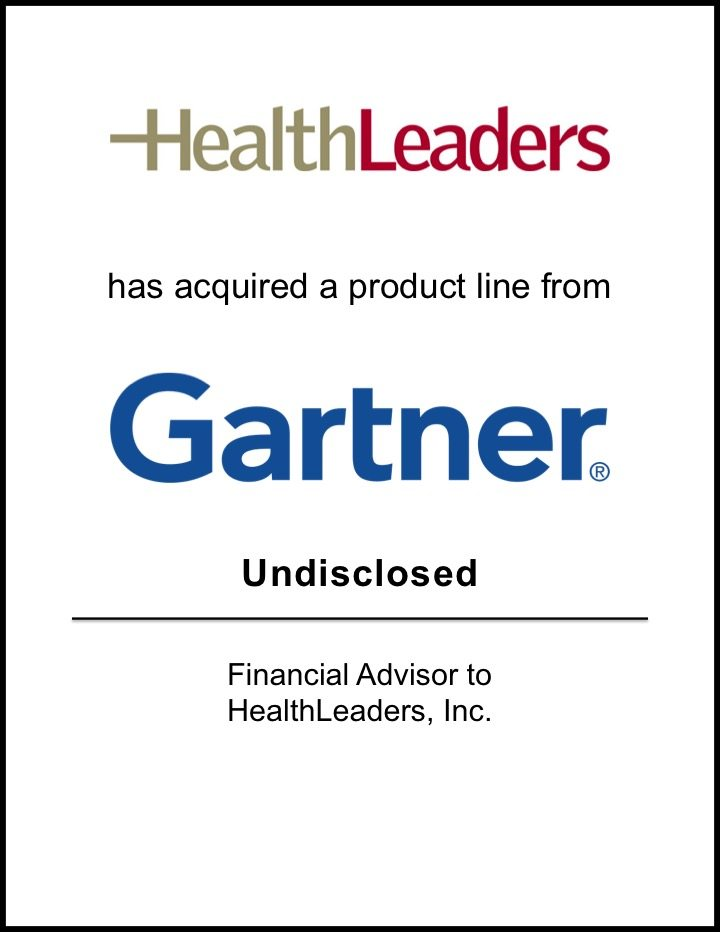 HealthLeaders Acquires a Product Line from Gartner