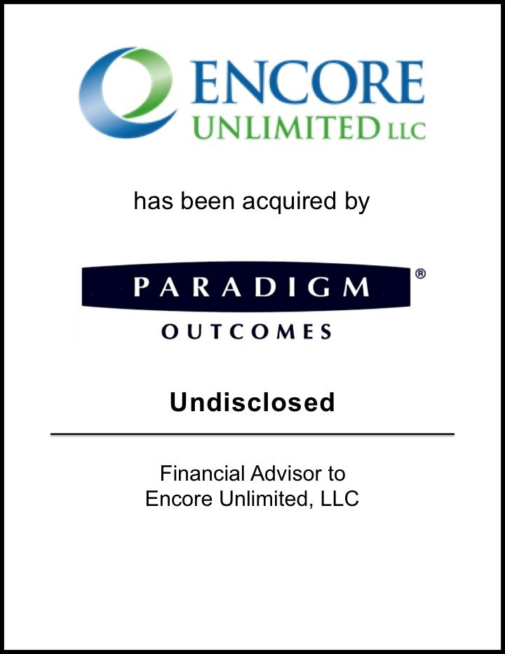 Paradigm Outcomes Acquires Encore Unlimited