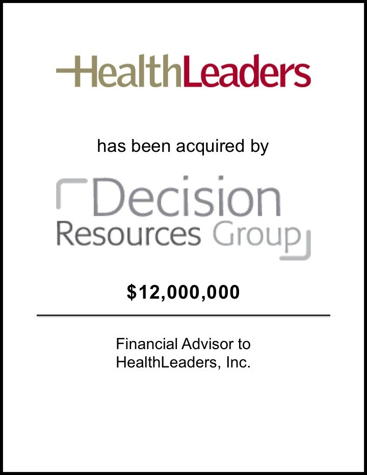HealthLeaders Acquires Decision Resources Group