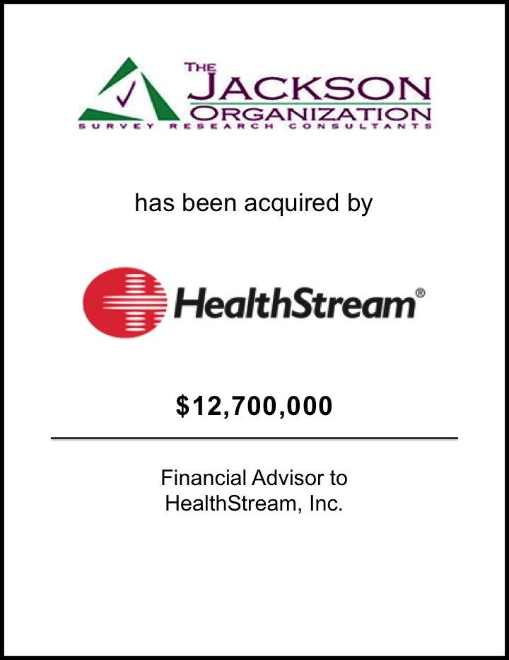 HealthStream Acquires The Jackson Organization