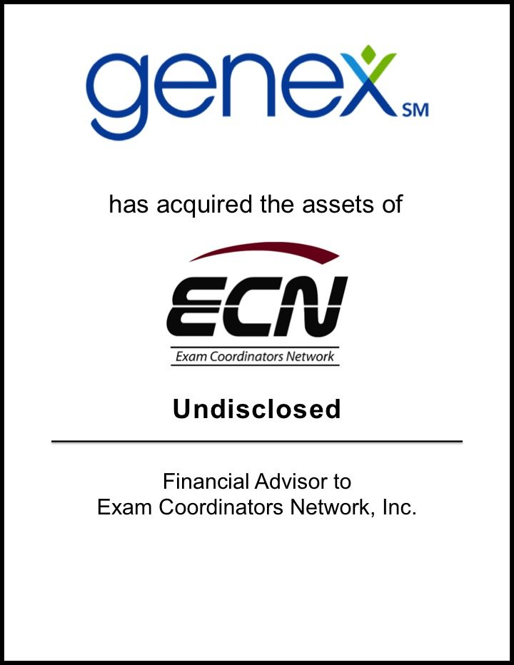 Genex Services Acquires Exam Coordinators Network
